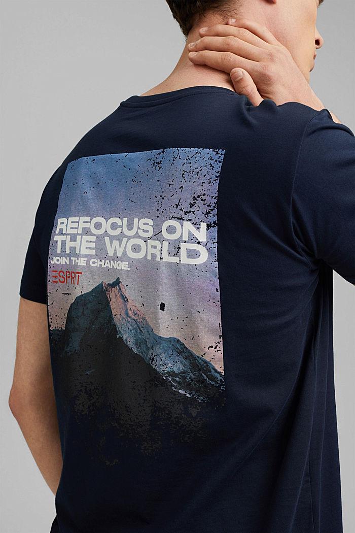 Organic cotton print T-shirt, NAVY, detail image number 5