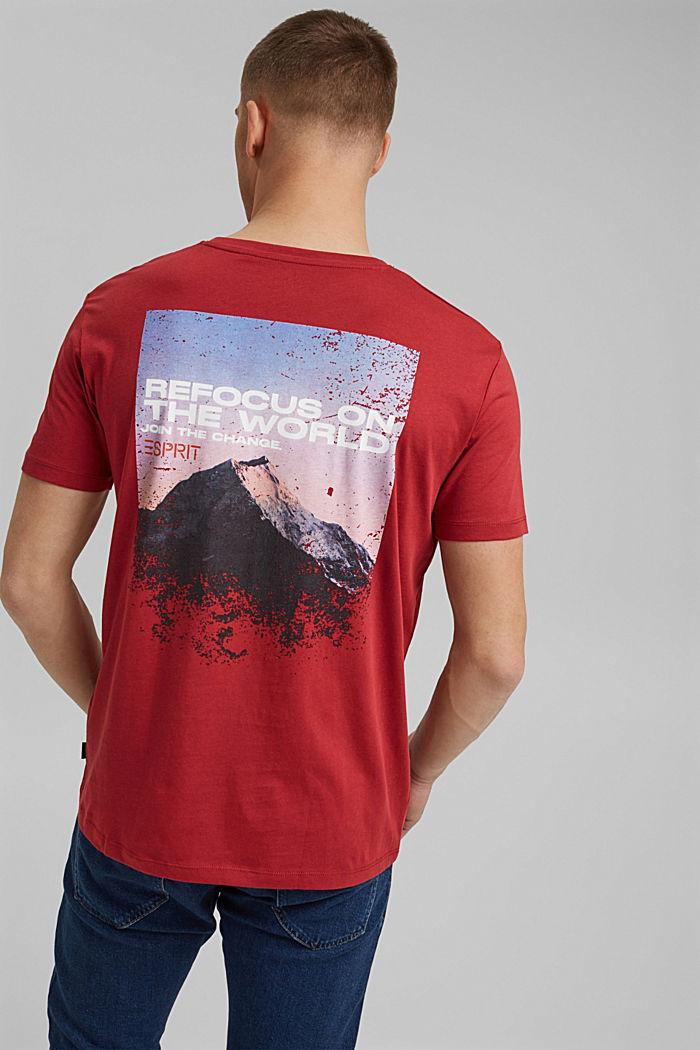 Print-Shirt aus Organic Cotton, BERRY RED, detail image number 3