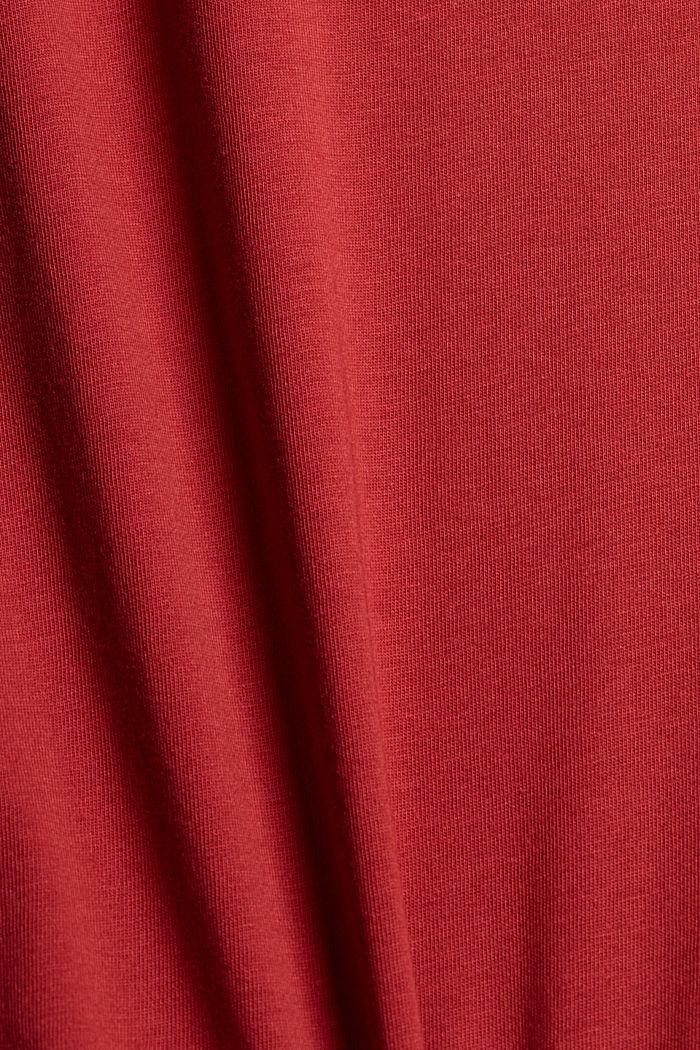 Print-Shirt aus Organic Cotton, BERRY RED, detail image number 4