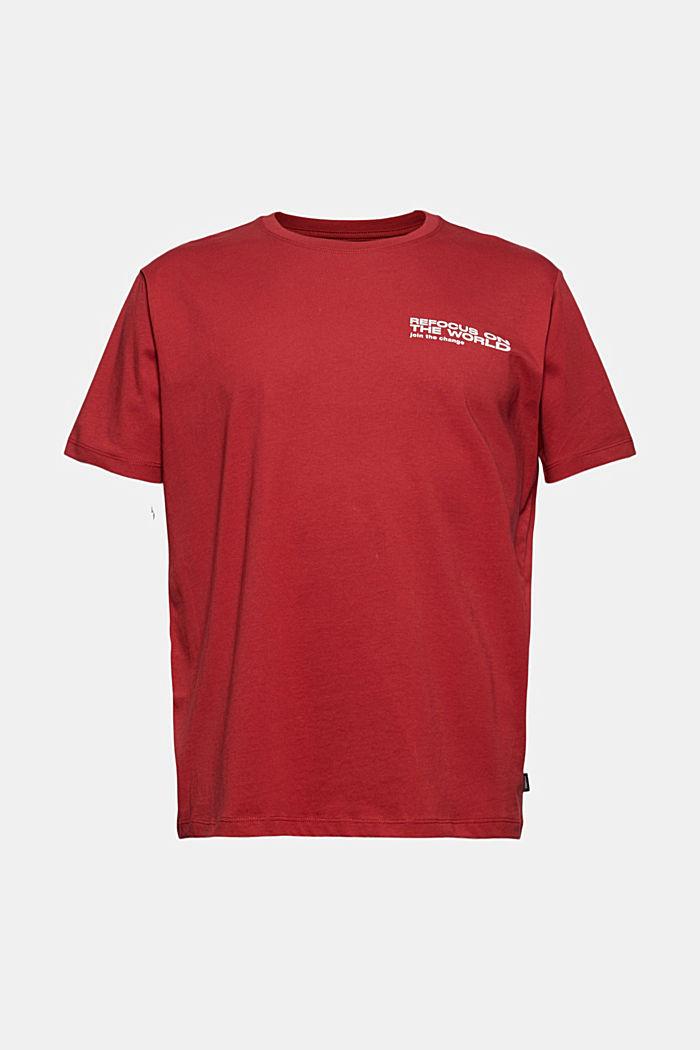 Print-Shirt aus Organic Cotton, BERRY RED, detail image number 5