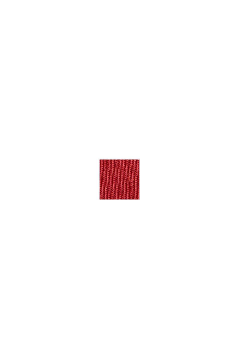Shirt met print van biologisch katoen, BERRY RED, swatch
