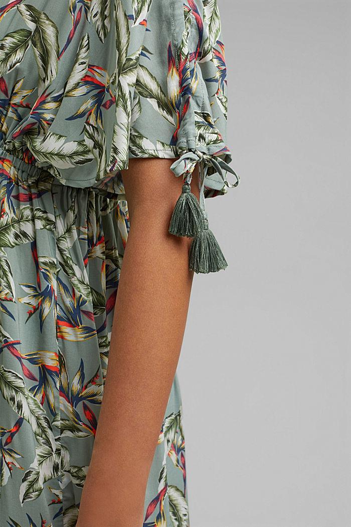 Plażowa sukienka maxi z LENZING™ ECOVERO™, LIGHT KHAKI, detail image number 3
