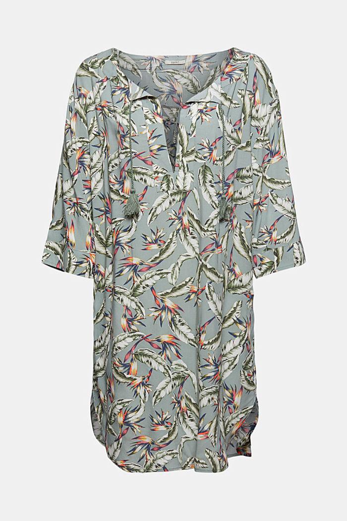 Tunic made of LENZING™ ECOVERO™, LIGHT KHAKI, detail image number 3
