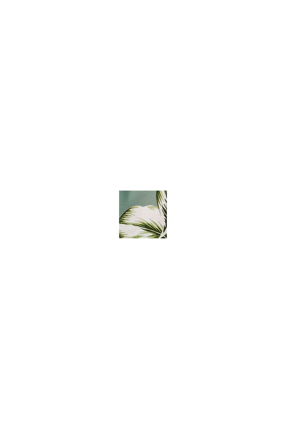 Recycelt: Neckholder-Top mit Tropical-Print, LIGHT KHAKI, swatch