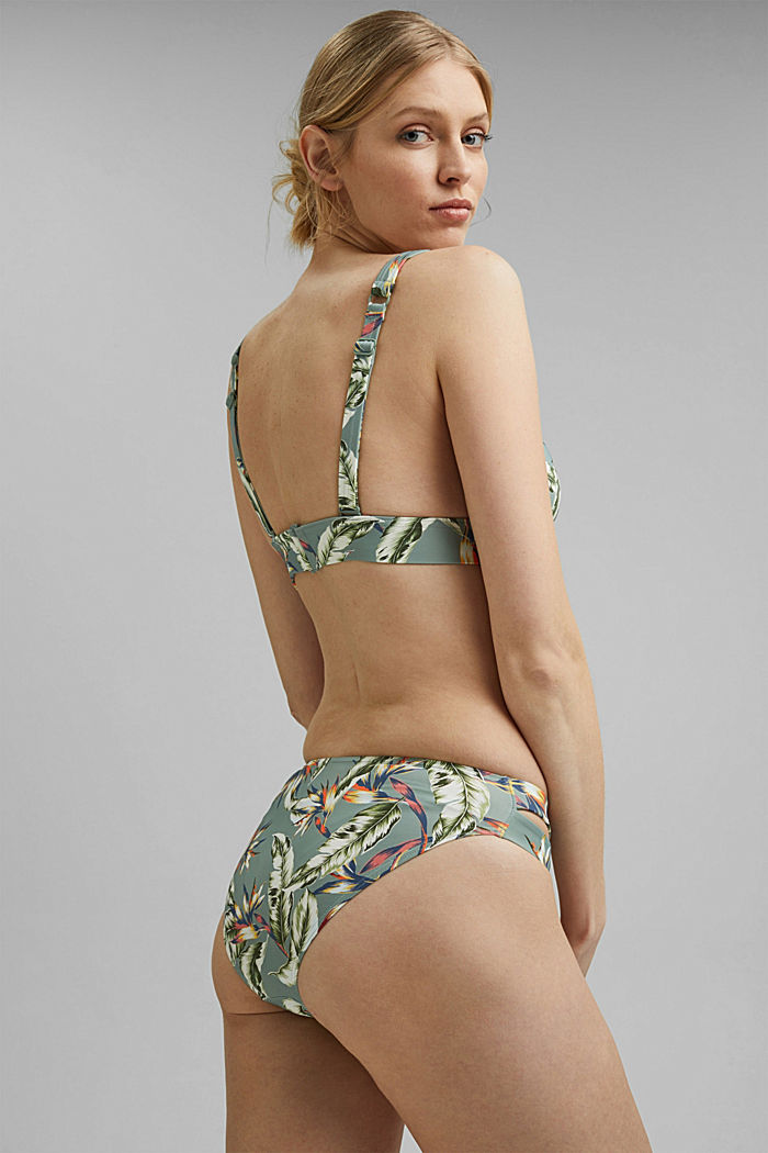 Recycled: briefs with a tropical print, LIGHT KHAKI, detail image number 2