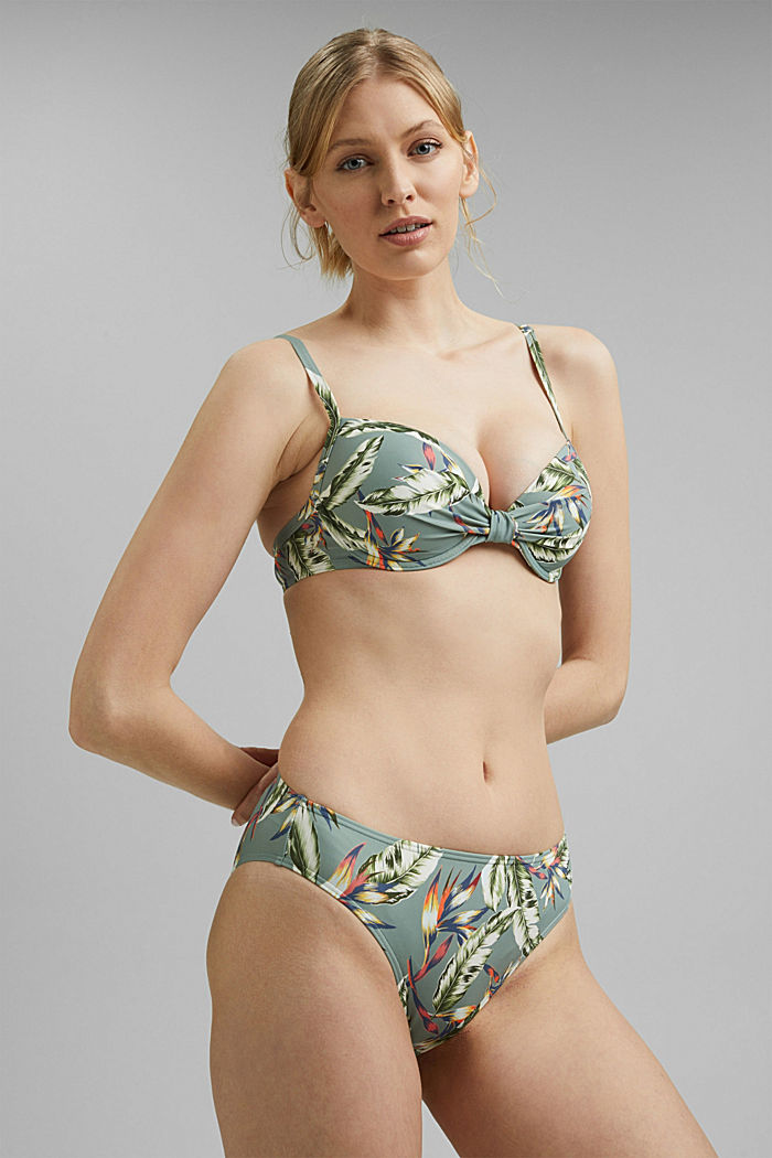 Recycled: briefs with a tropical print
