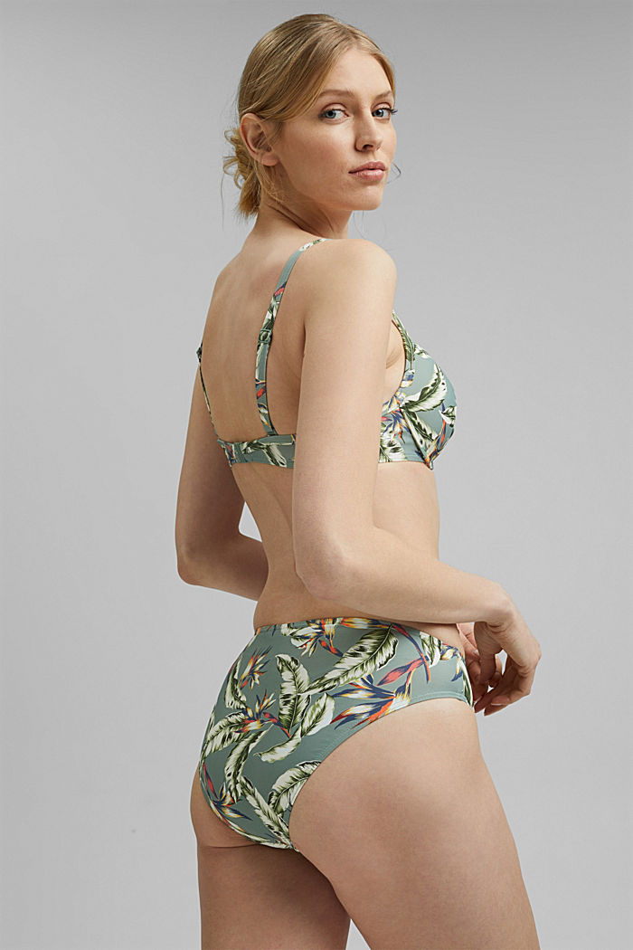 Recycelt: Slip mit Tropical-Print, LIGHT KHAKI, detail image number 2