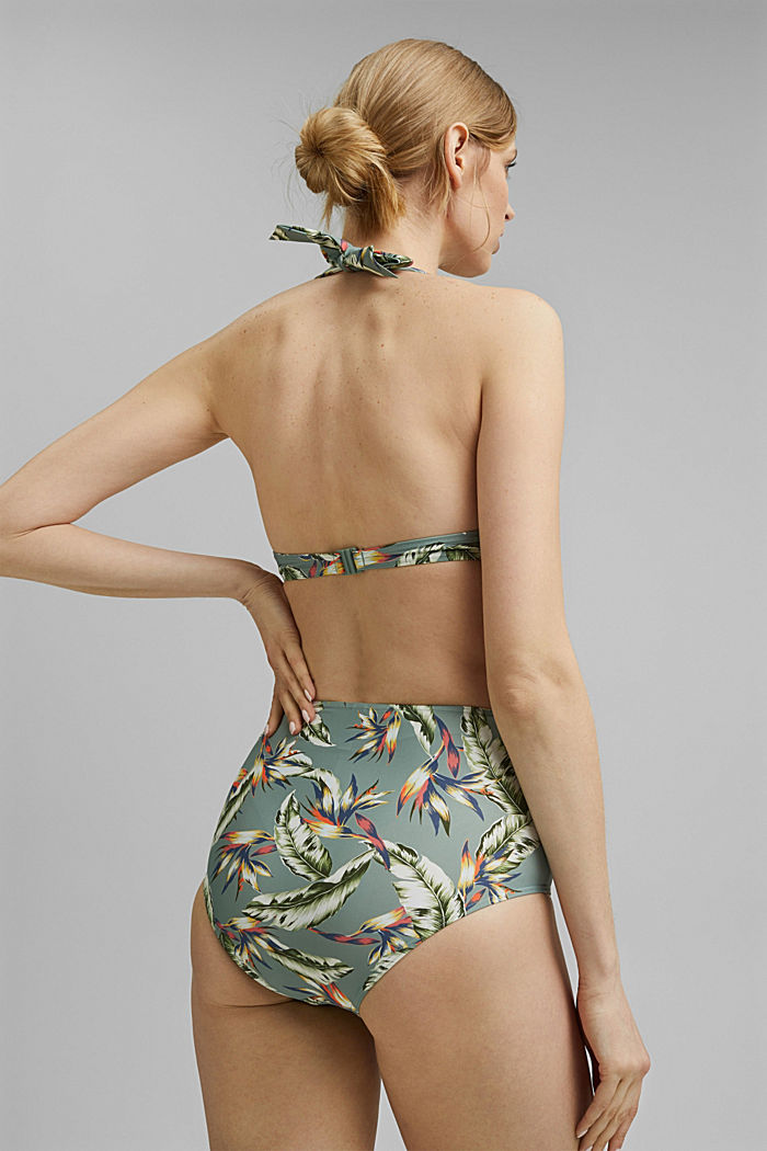Recycled: Printed high-waisted briefs, LIGHT KHAKI, detail image number 2