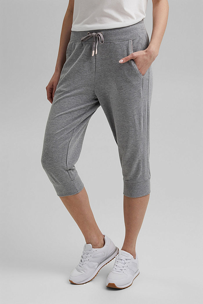 Capri-Pants mit Organic Cotton, MEDIUM GREY, overview