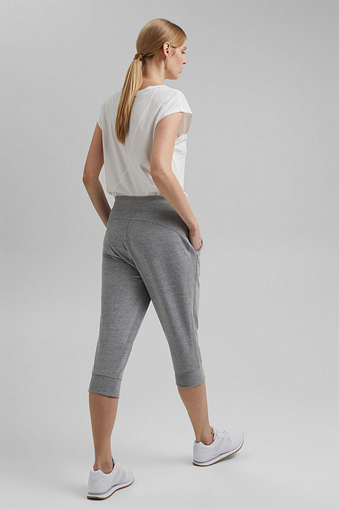 Capri-Pants mit Organic Cotton, MEDIUM GREY, detail image number 3