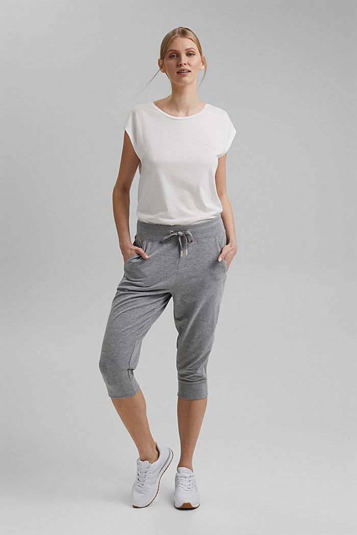 Capri-Pants mit Organic Cotton, MEDIUM GREY, detail image number 1