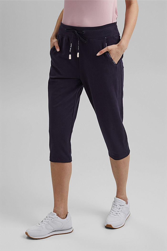 Capri-Pants mit Organic Cotton, NAVY, detail image number 0