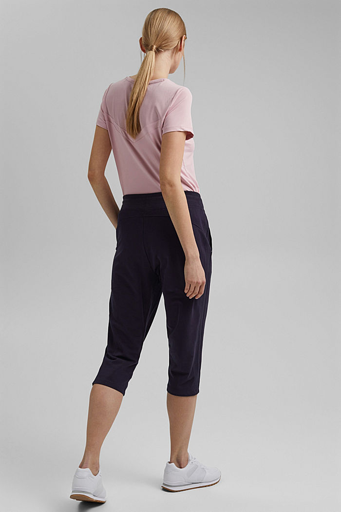 Capris with organic cotton, NAVY, detail image number 3