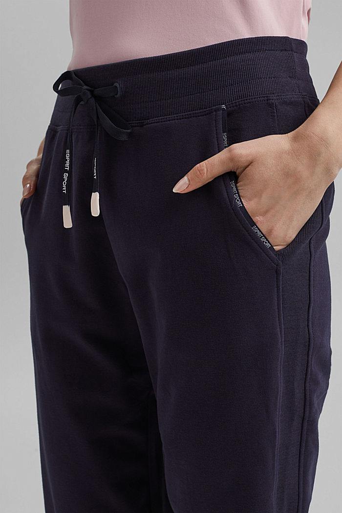 Capris with organic cotton, NAVY, detail image number 2