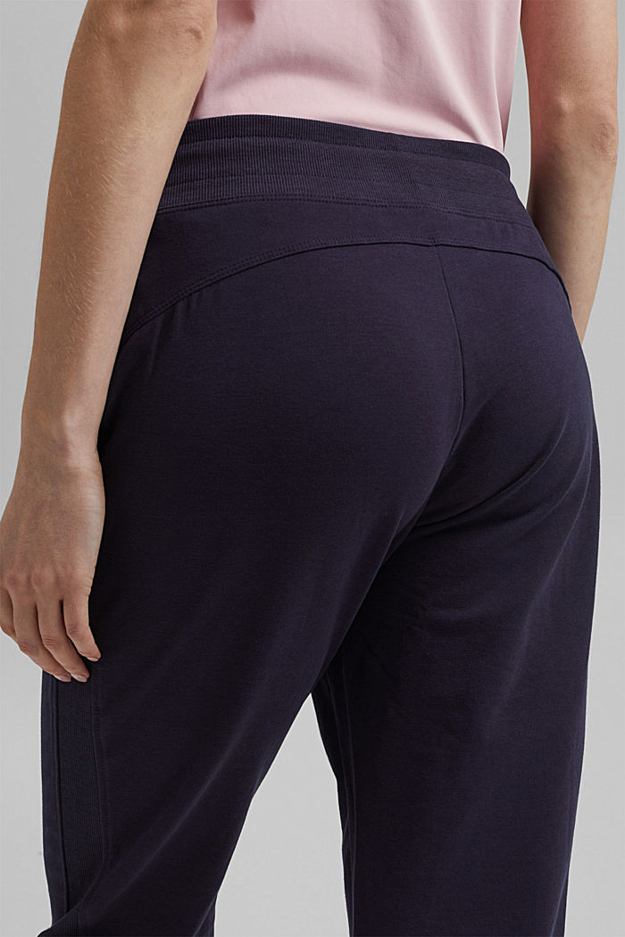 Capris with organic cotton, NAVY, detail image number 5