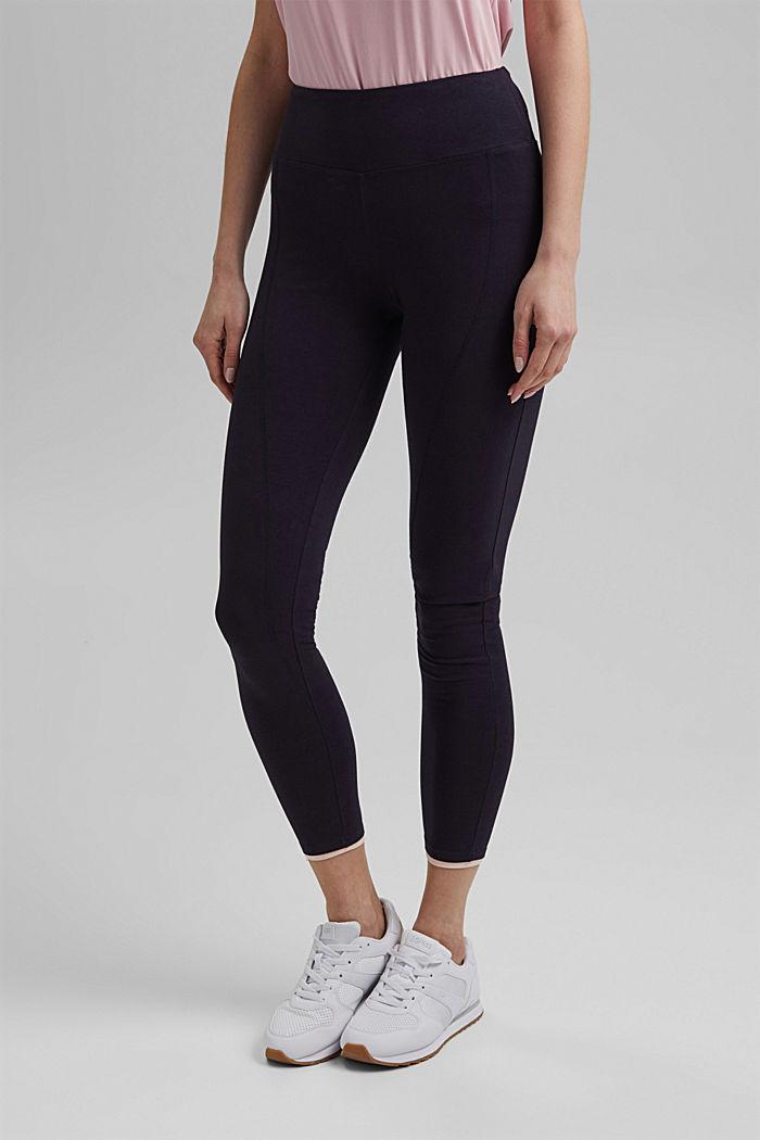 Jersey leggings made of organic cotton, NAVY, detail image number 0