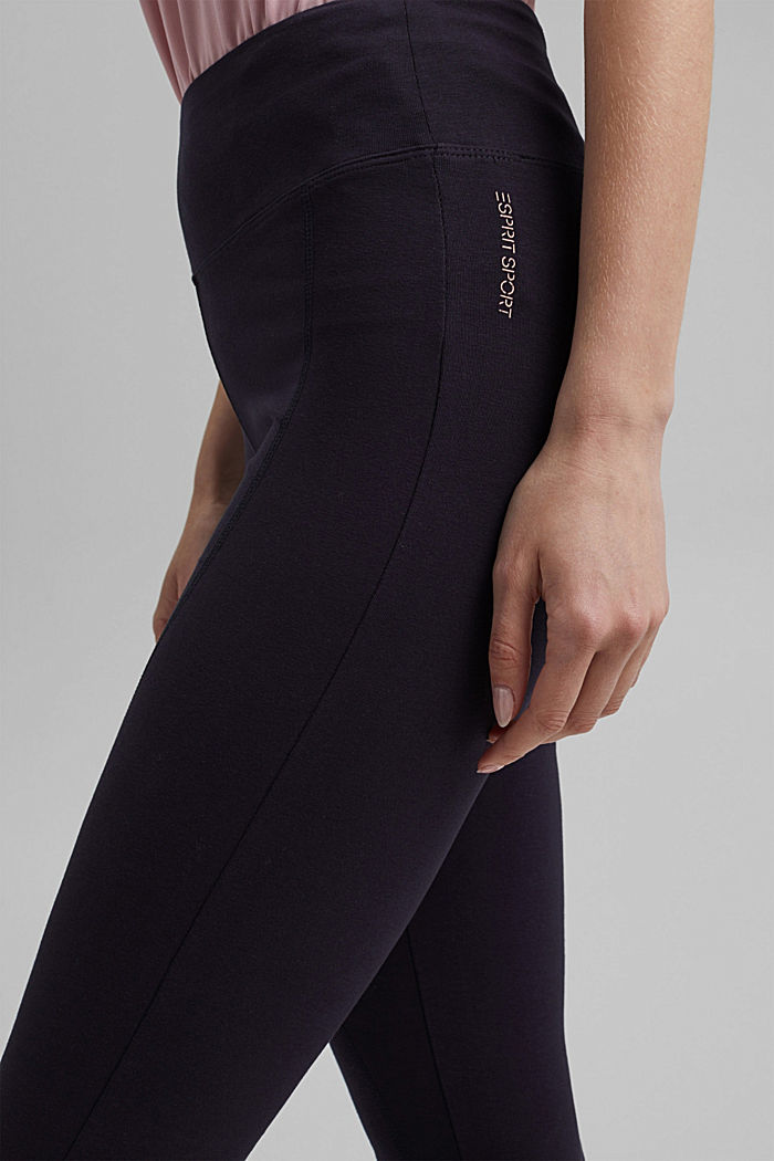 Jersey-Leggings aus Organic Cotton, NAVY, detail image number 2
