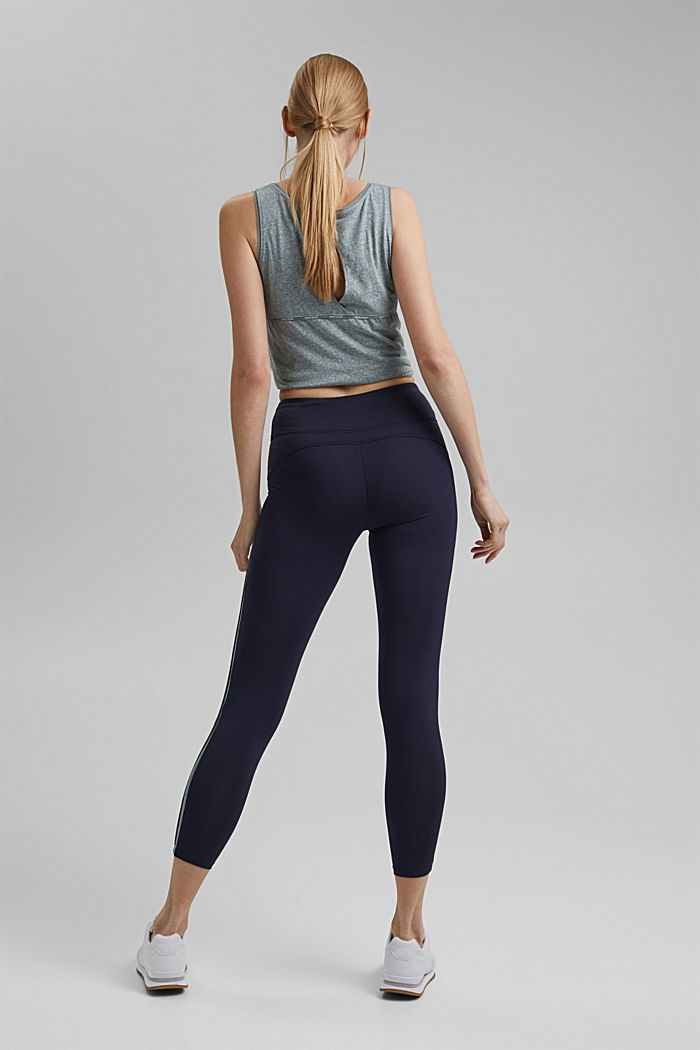 Recycled: high-performance leggings with an E-DRY finish, NAVY, detail image number 3