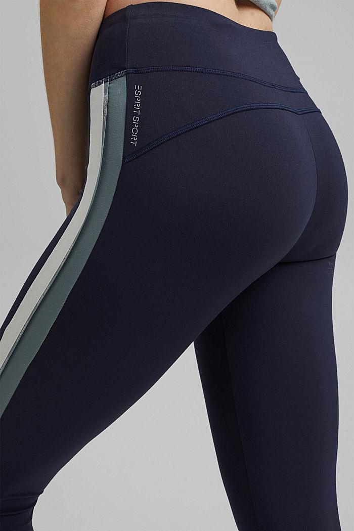 En matière recyclée: les leggings de sport, E-DRY, NAVY, detail image number 2