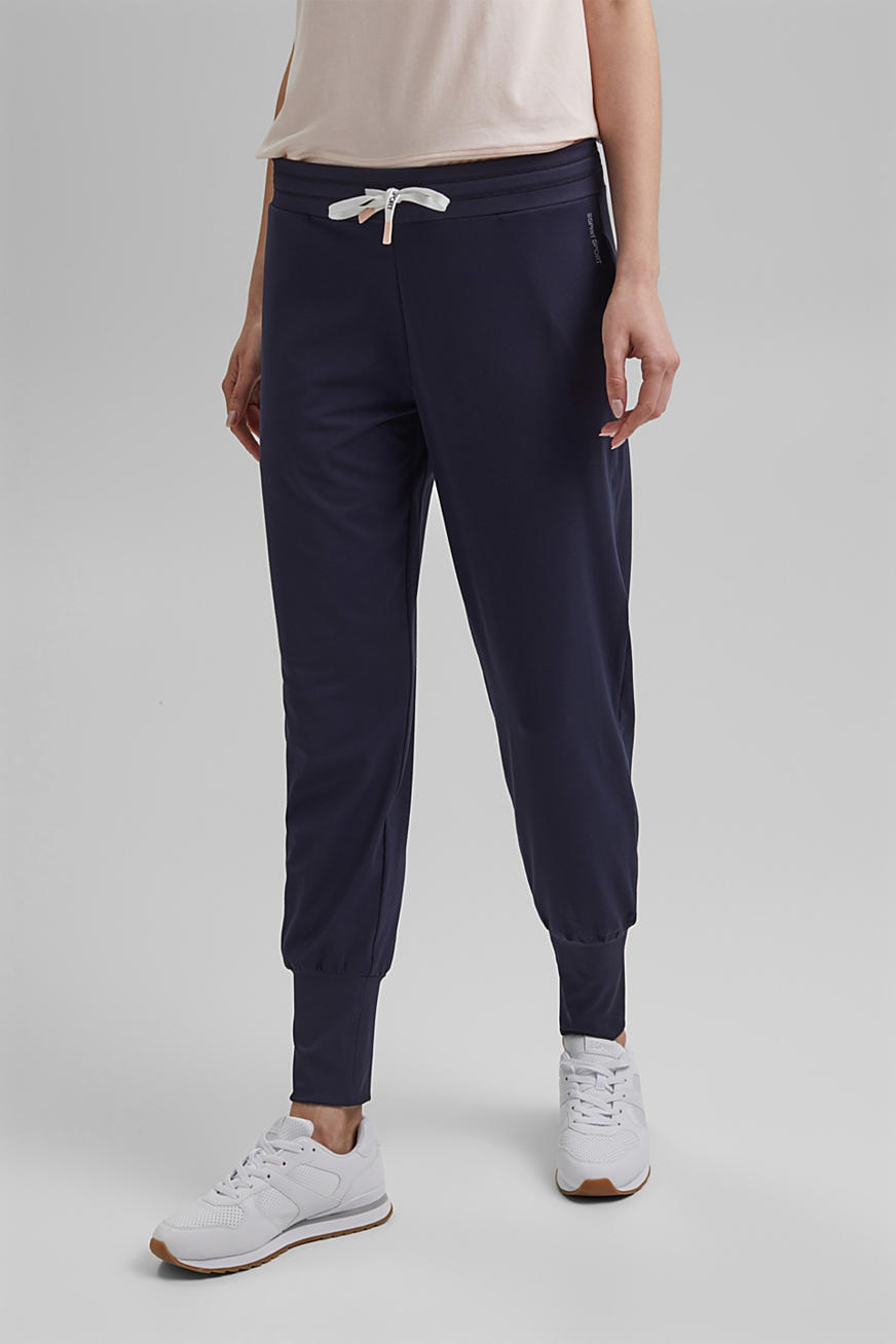 Recycled: Jersey trousers with E-DRY