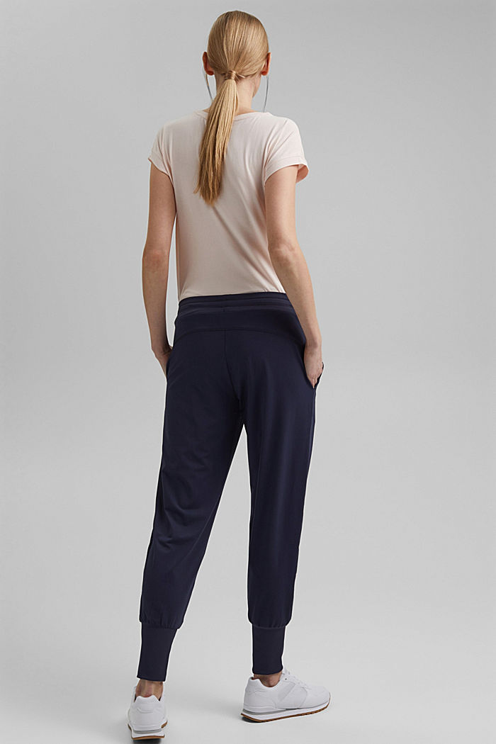 Recycled: Jersey trousers with E-DRY, NAVY, detail image number 3