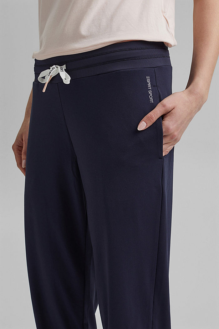 Recycled: Jersey trousers with E-DRY, NAVY, detail image number 2