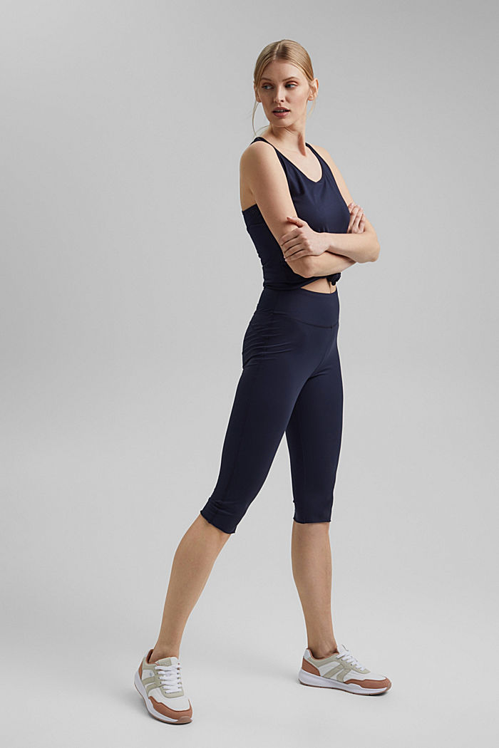 Recycled: high-performance leggings with an E-DRY finish, NAVY, detail image number 1