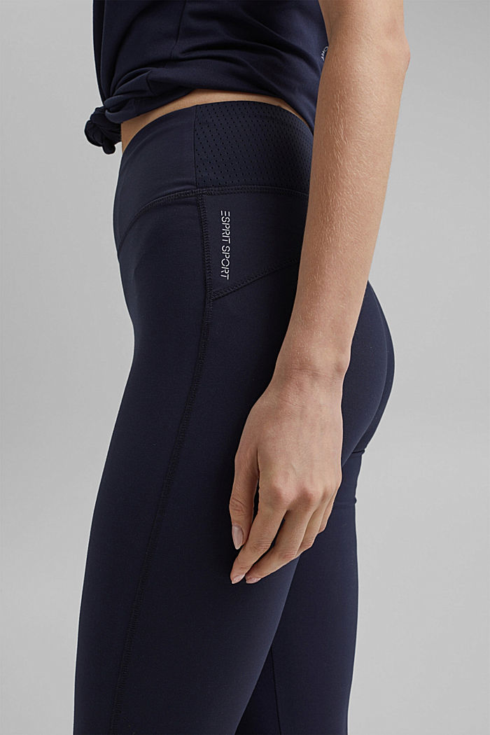 Recycelt: Active-Leggings mit E-Dry, NAVY, detail image number 2