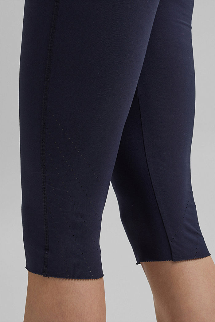 Recycled: high-performance leggings with an E-DRY finish, NAVY, detail image number 5