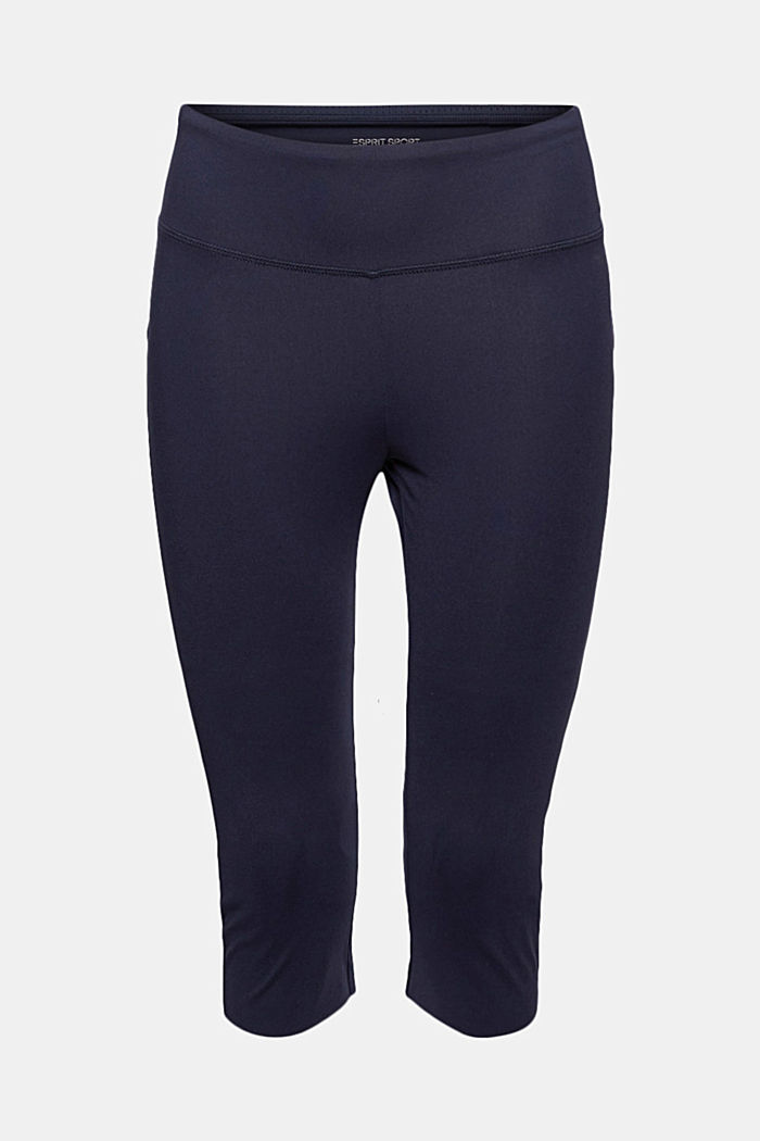 Recycled: high-performance leggings with an E-DRY finish, NAVY, detail image number 6