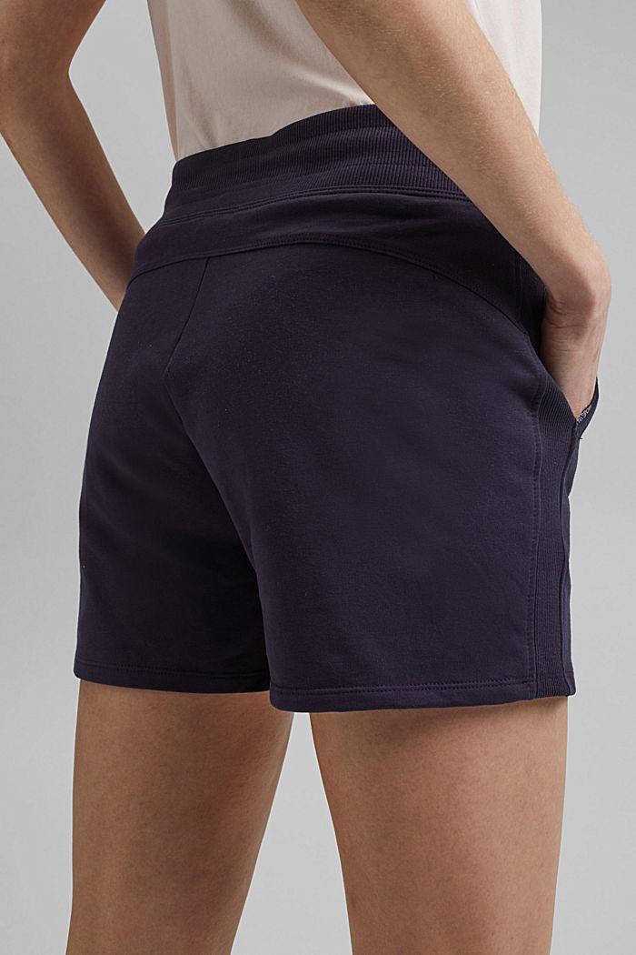 Sweat-Shorts mit Organic Cotton, NAVY, detail image number 5