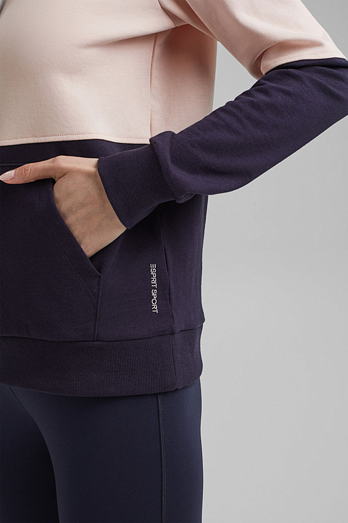 Colorblock-Hoodie mit Organic Cotton, NAVY, detail image number 2