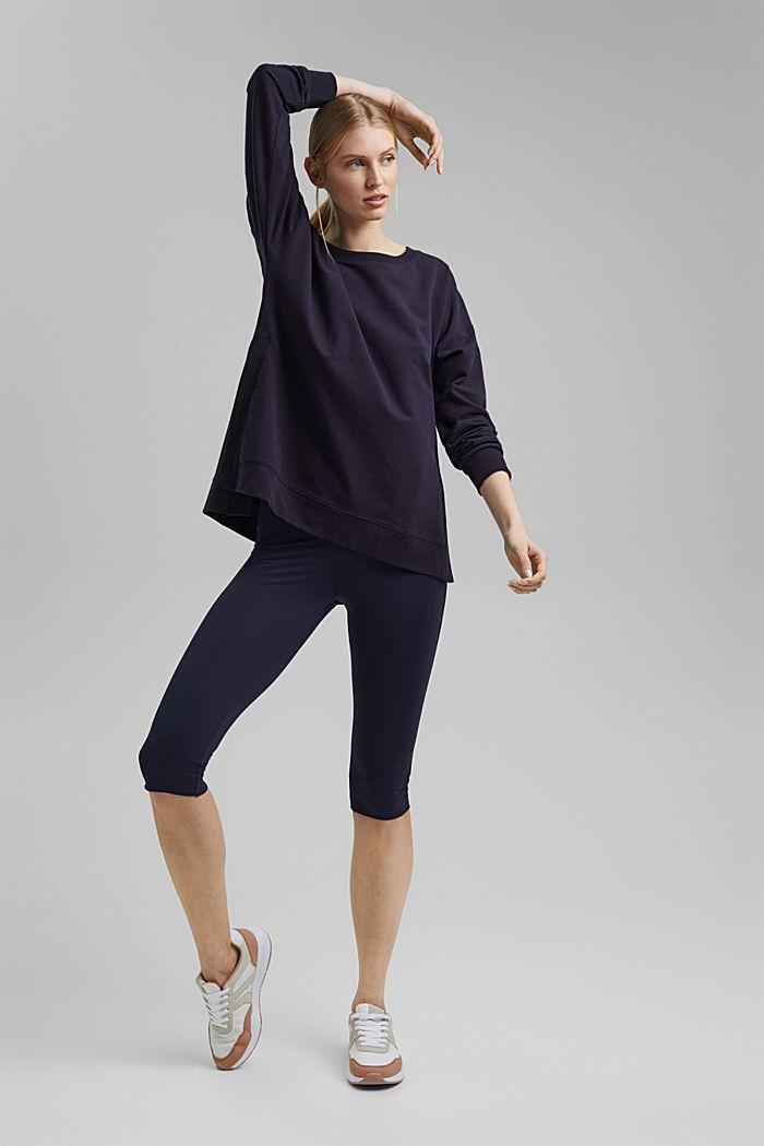 Sweatshirt aus Organic Cotton, NAVY, detail image number 1