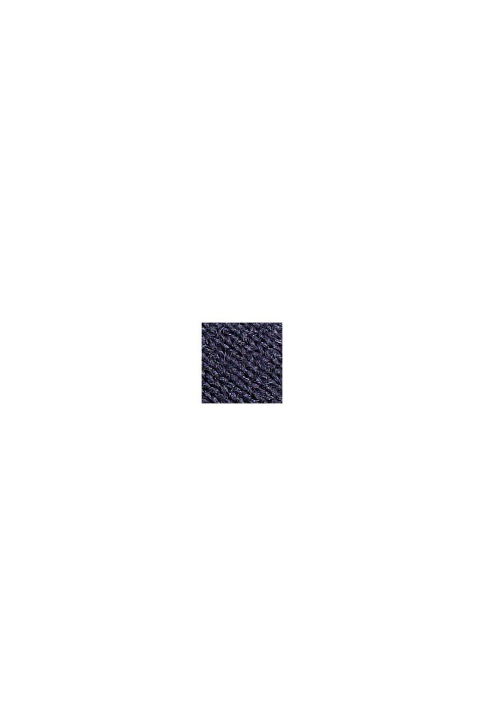 In materiale riciclato: maglia a maniche lunghe con taglio laser E-DRY, NAVY, swatch