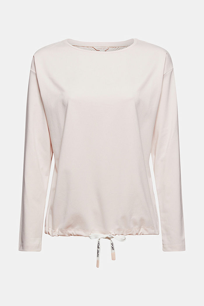 Recycled: Laser-cut long sleeve top