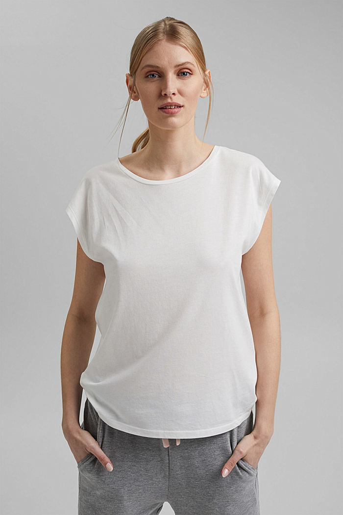 TENCEL™/modal blend: T-shirt containing organic cotton