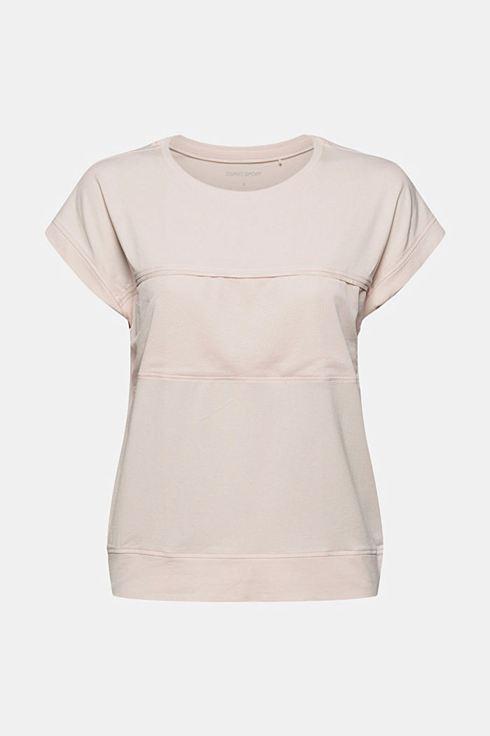 Mesh insert T-shirt, organic cotton