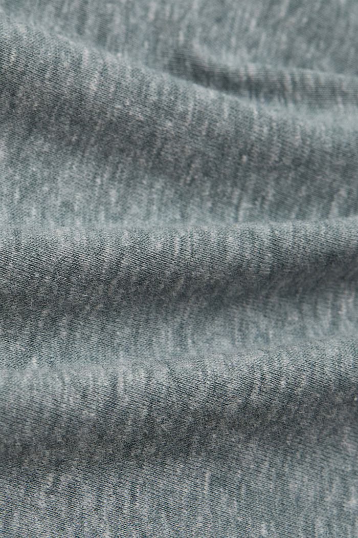 Recycled: melange organic cotton top, DUSTY GREEN, detail image number 4