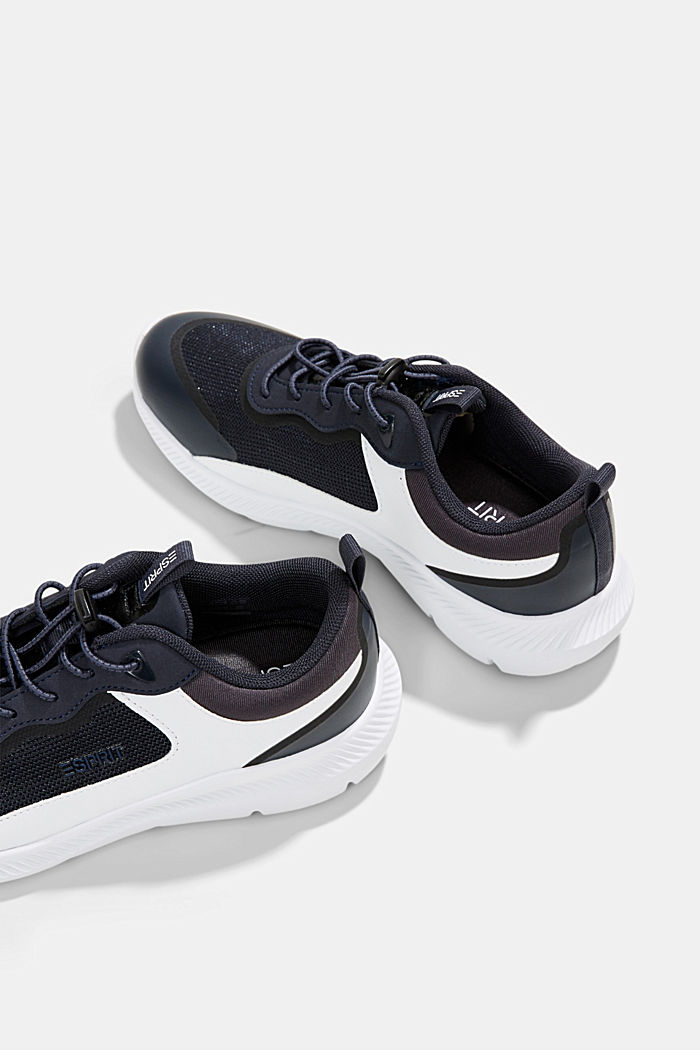 Trainers in a mix of materials, DARK BLUE, detail image number 5