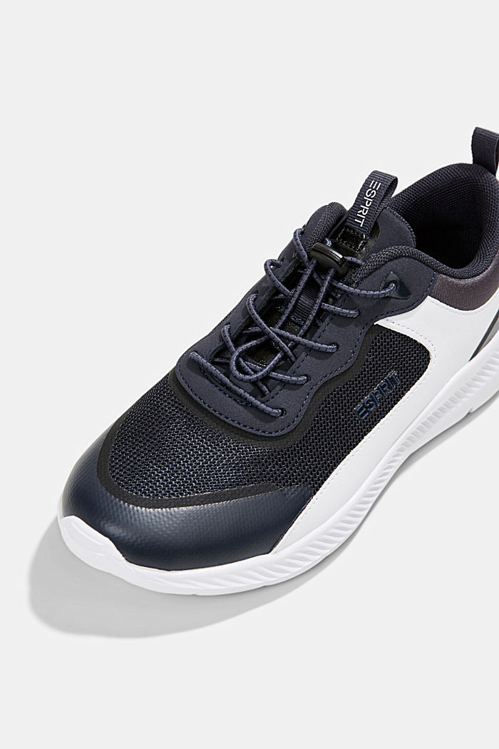 Trainers in a mix of materials, DARK BLUE, detail image number 4