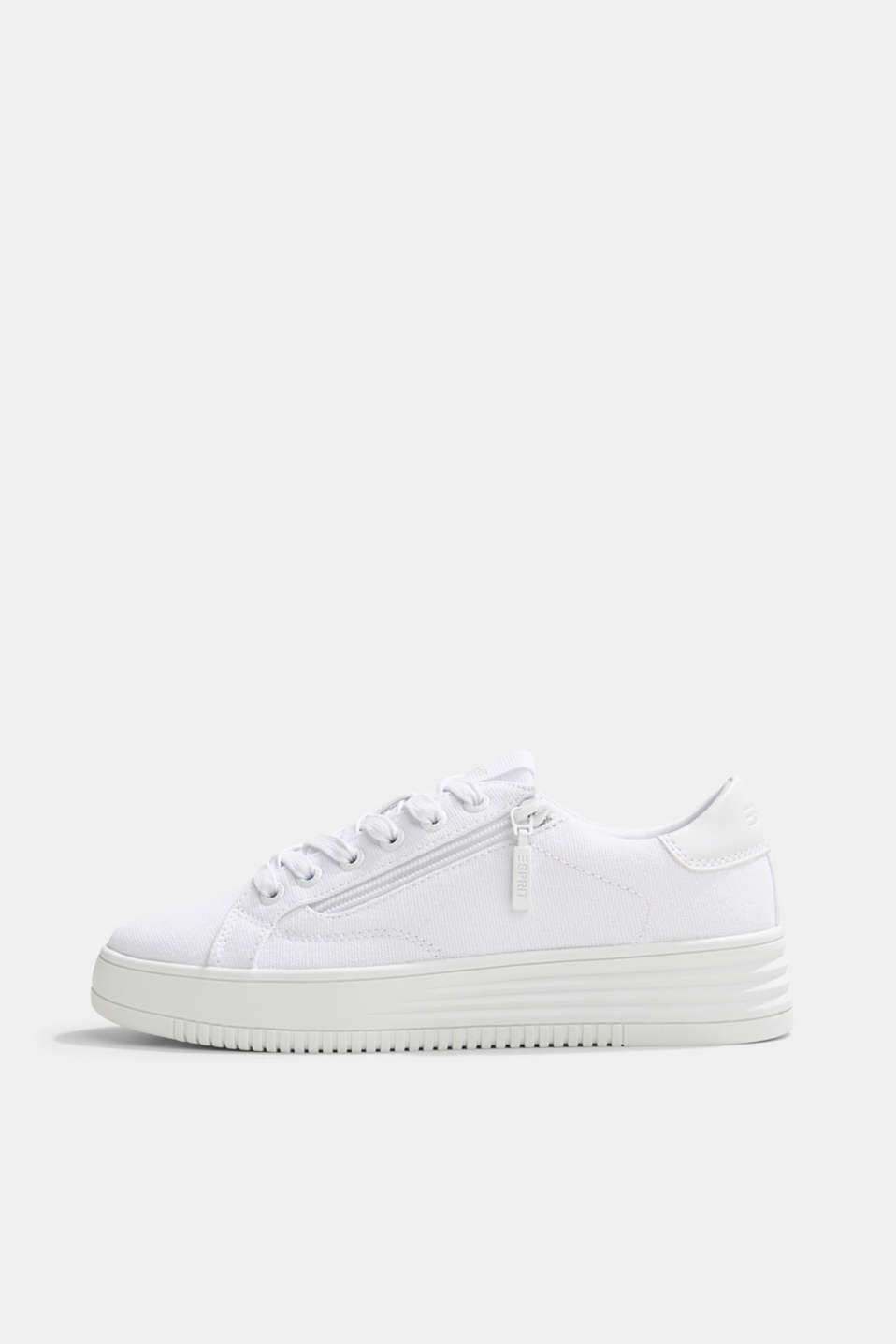 Esprit - Canvas trainers with a platform sole