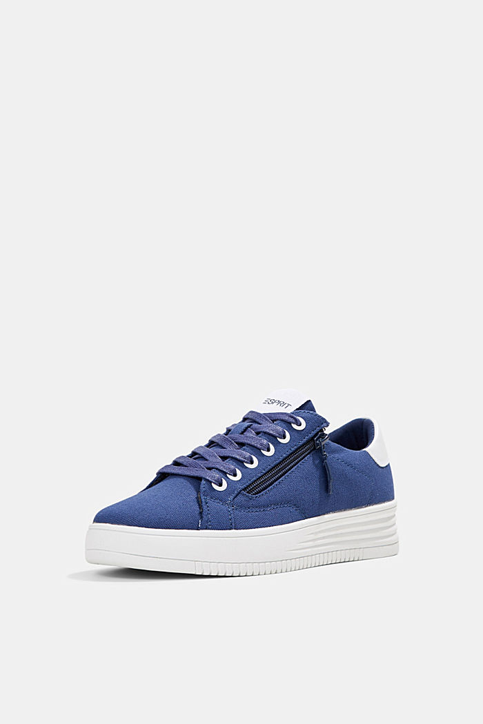 Canvas-Sneaker mit Plateau-Sohle, DARK BLUE, detail image number 2