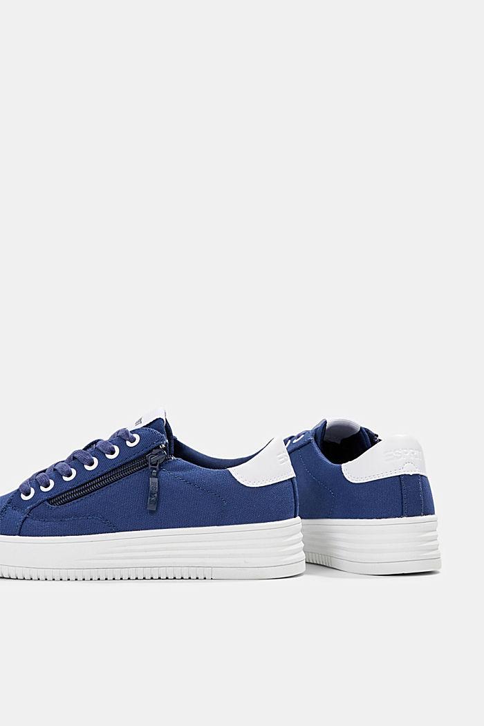 Canvas-Sneaker mit Plateau-Sohle, DARK BLUE, detail image number 5