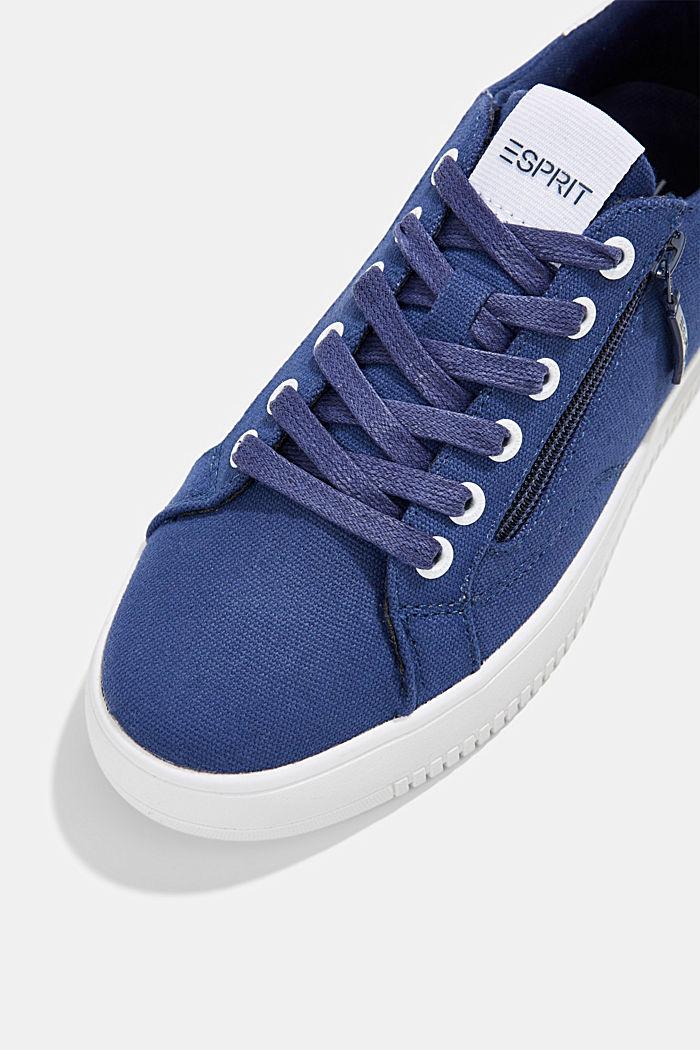 Canvas-Sneaker mit Plateau-Sohle, DARK BLUE, detail image number 4