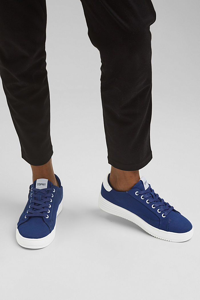 Canvas-Sneaker mit Plateau-Sohle, DARK BLUE, detail image number 3