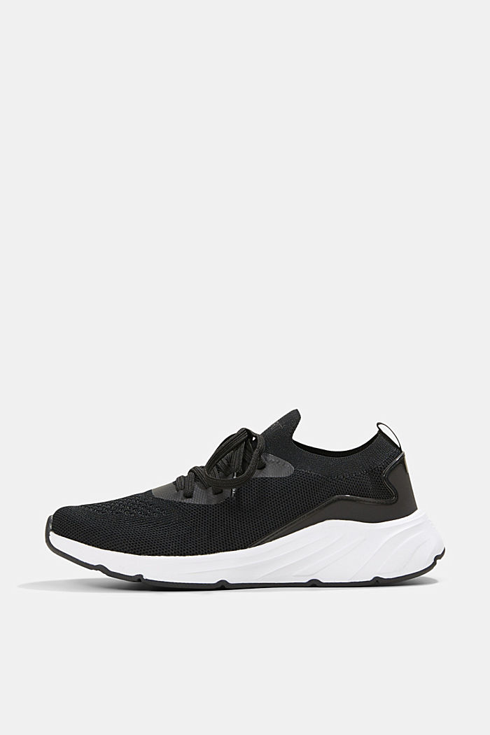 Combined knit trainers, BLACK, detail image number 0