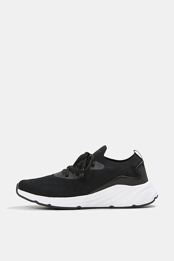 Kombinierte Knit-Sneaker, BLACK, detail image number 0