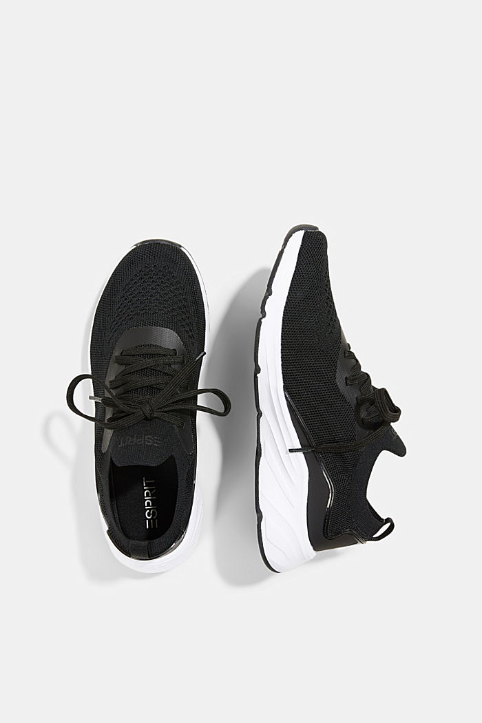 Combined knit trainers, BLACK, detail image number 1