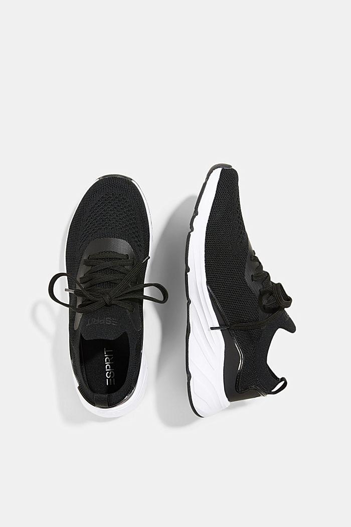 Kombinierte Knit-Sneaker, BLACK, detail image number 1