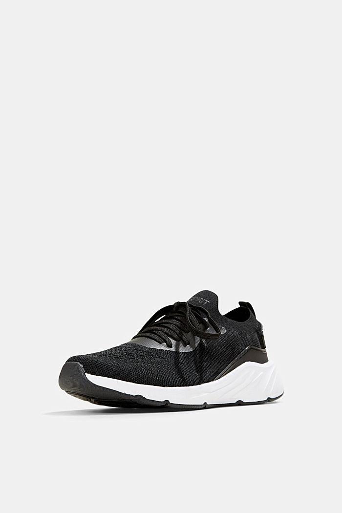 Kombinierte Knit-Sneaker, BLACK, detail image number 2